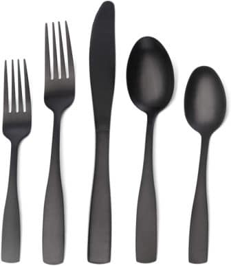 OCE 20-Piece Matte Black Silverware Set