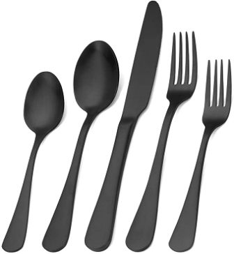 Sharecook 20-Piece Matte Black Silverware Set